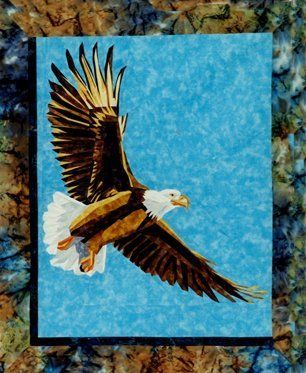 Freedom Foundation Paper Piecing Pattern 21 X 27 Quilt Block An Extraordinary Foundation P Eagle Quilt Foundation Paper Piecing Patterns Art Quilts
