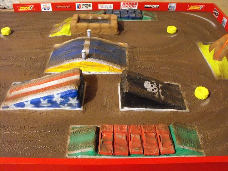 Monster Truck Arena Diy Freestyle Track Diorama Ko S Room