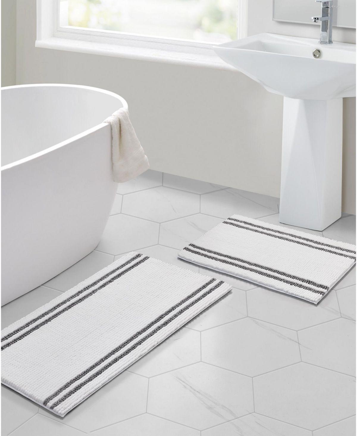 Vcny Home Stripe Noodle 2 Pc Bath Rug Set Bath Rugs Sets Small Bath Rugs Bath Rug [ 1467 x 1200 Pixel ]