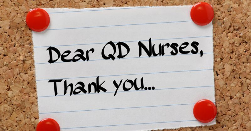 Dear QD Nurses, Thank you... http://qdnurses.com/nursing-resources/stay-updated/dear-qd-nurses/ --- #nclex #nursing #nclextips #nclex_tips #nurse #nursingschool #nursing_school #nursingstudent #nursing_student