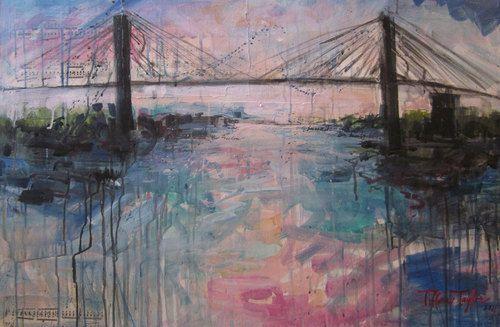 The Talmadge Bridge Painted By Savannah Artist Tiffani Taylor Isn T This Beautiful Southern Artist Cool Artwork Art Photography