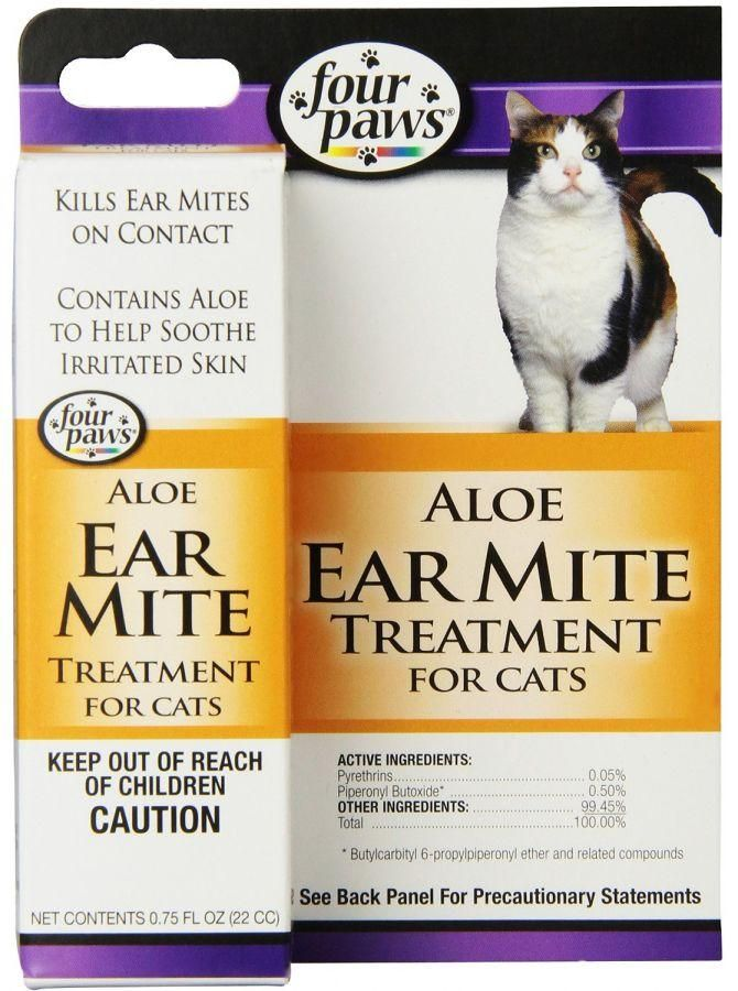 Four Paws Ear Mite Remedy For Cats In 2020 Cat Ear Mites Cat Health Care Cat Health