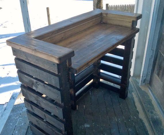 Rustic Pallet Bar Unit Pallet Reception Desk Pallet Sales