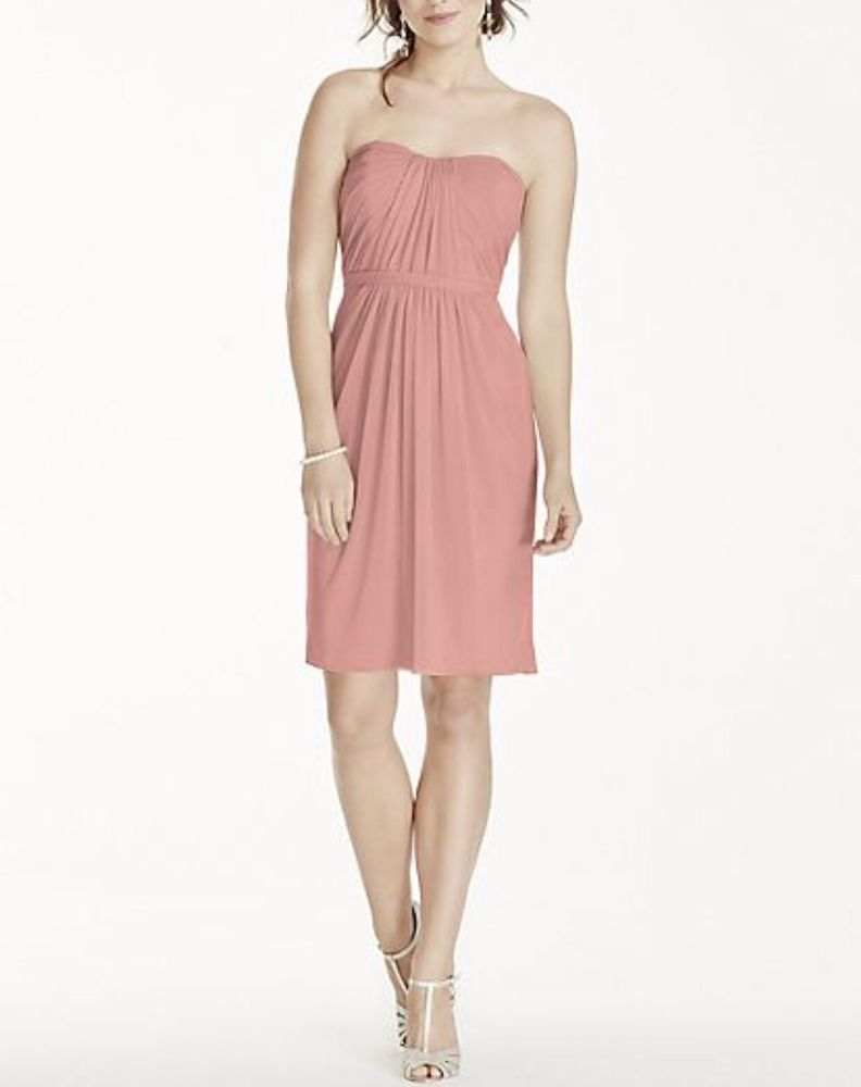 New Short Strapless Dress Size 22
