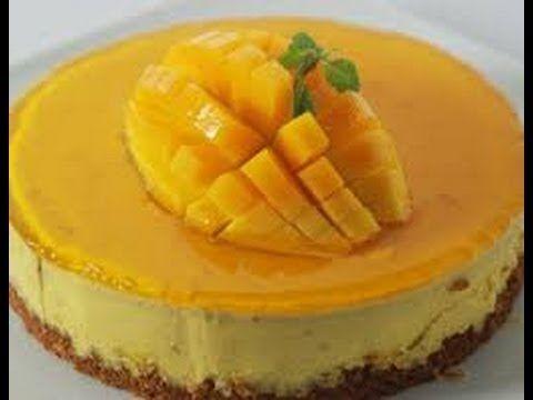 Mango Cheesecake Sanjeev Kapoor Khana Khazana Youtube Mango Cheesecake Cheesecake Mango Cake