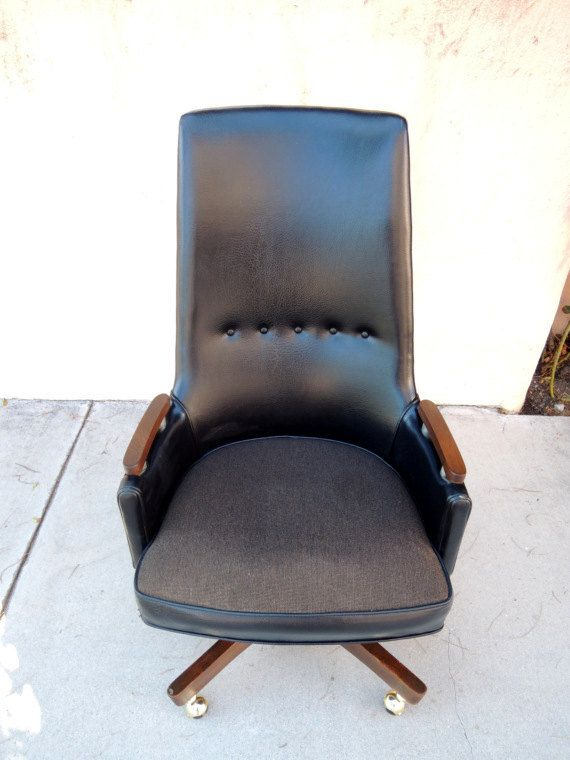 Mid Century Modern High Back Swivel Leather Desk Chair Los Angeles By Housecandyla 250 00 Leather Desk Mid Century Modern Chair