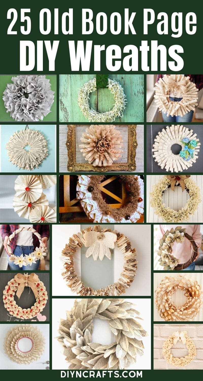 Grab some old books and turn them into a rustic wreath!