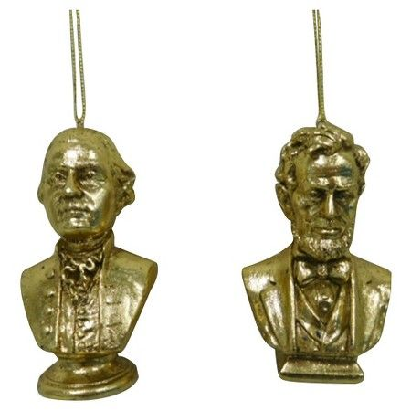 Gold President Statue Christmas Ornament (Assorted Styles ...