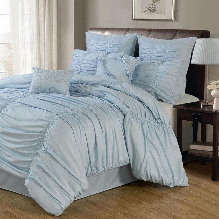 8-Piece Danielle Comforter Set in Blue