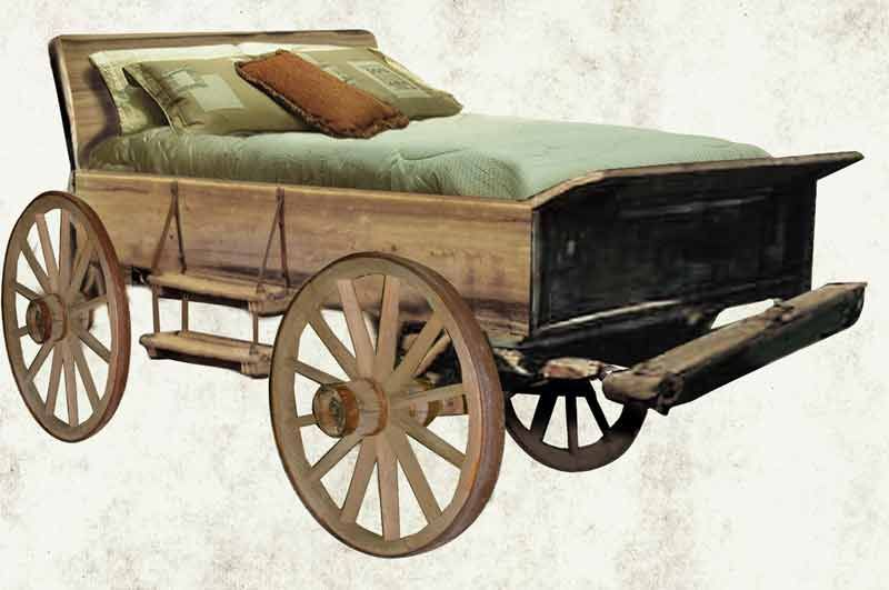 Repurposed - Upcycled Old Buckboard Wagon Transformed Into A Bed Ideas For The
