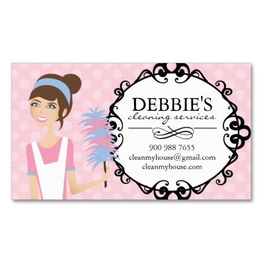 Whimsical House Cleaning Services Business Cards House cleaning - house cleaning flyer