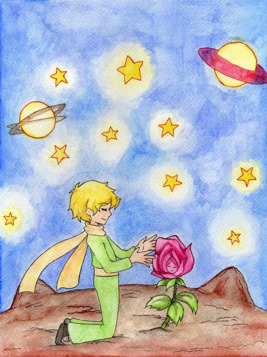 El Principito Y Su Rosa By Lebasilig On Deviantart En