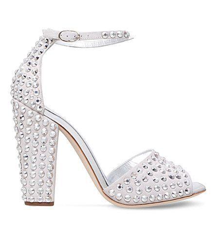 f6c14ff36206 GIUSEPPE ZANOTTI Lavinia Crystal-Embellished Suede Sandals.  giuseppezanotti   shoes  heels