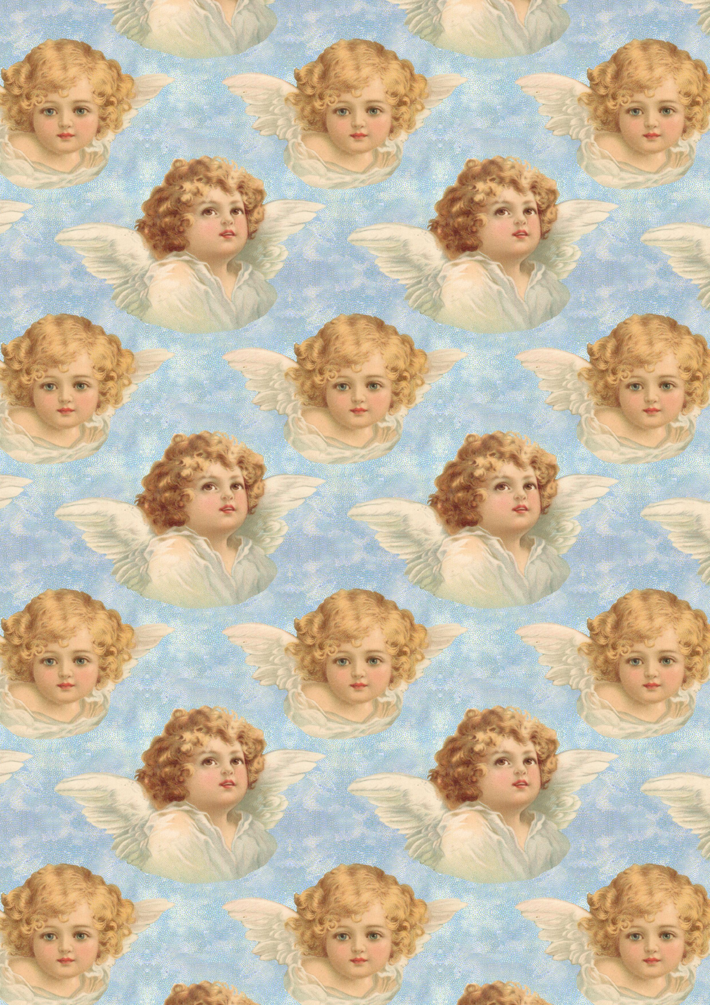 Victorian Angel Paper Angel Wallpaper Aesthetic Art Cute Wallpapers