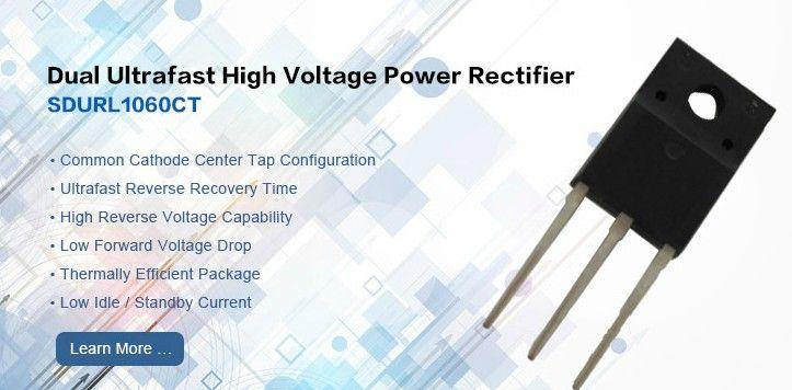 Dual Ultrafast High Voltage Power Rectifier Sdurl1060ct High