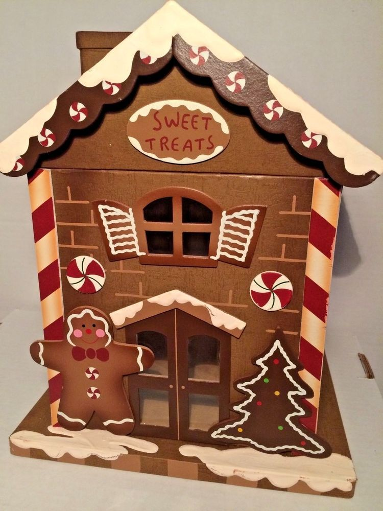 Gingerbread House Decorated Treat Gift Box Large