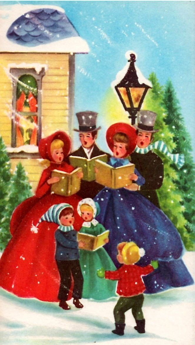little kid interrupts carolers with news of a sale at target - Target Photo Christmas Cards