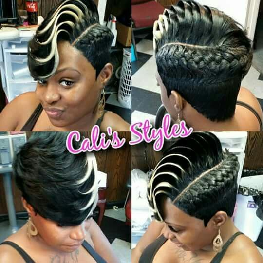 Braided Style With A Swoop Love It Hair Styles Sassy Hair Short Sassy Hair