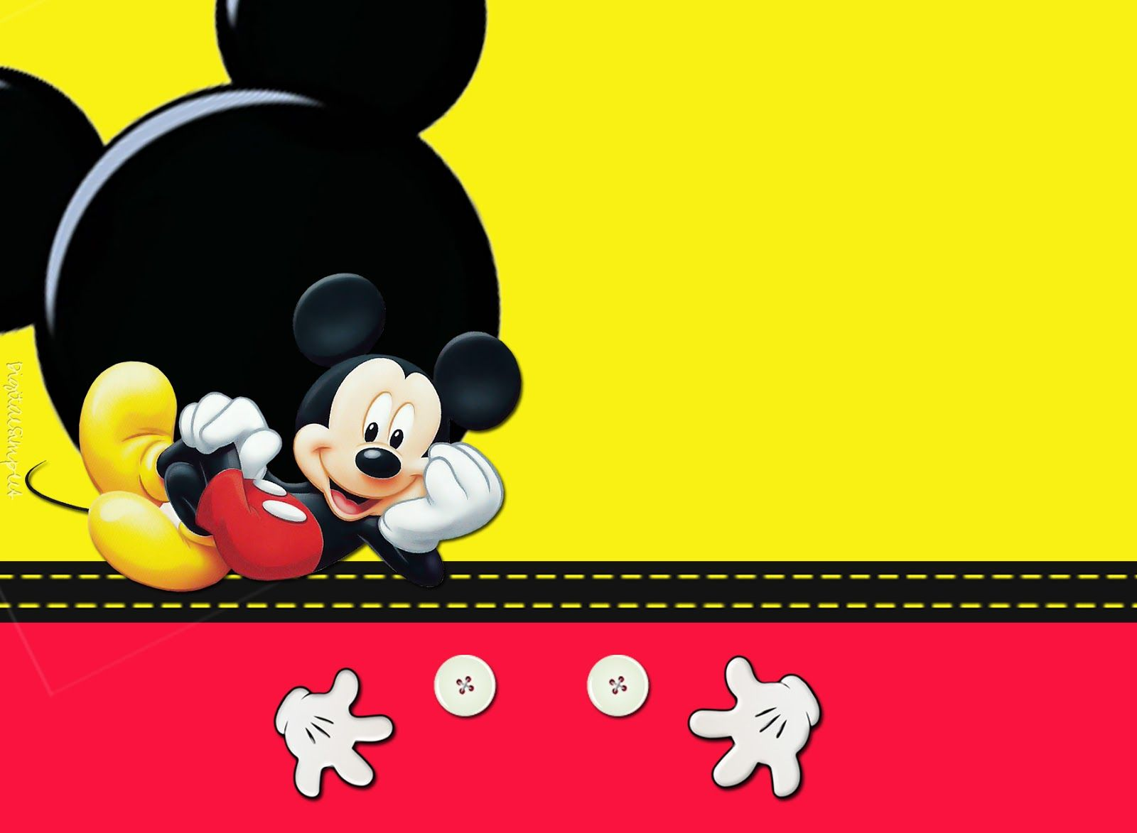 Convites Digitais Simples Kit Anivers Rio De Personalizados Tema Mickey Mouse