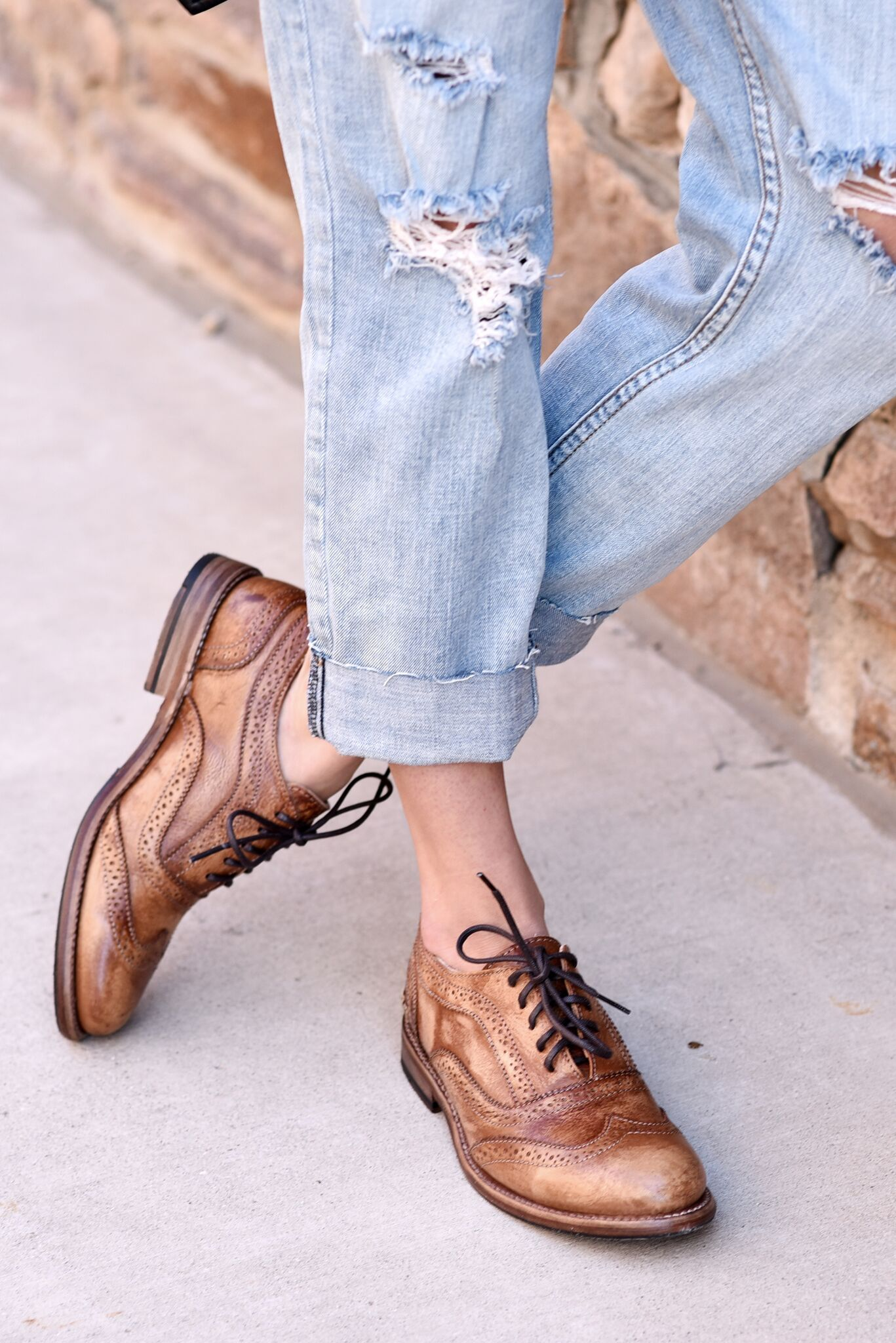 e616b298 The ultimate classic tan oxford by BEDSTU, styled with distressed light  washed denim,. Find this Pin and more on WOMEN'S - Flats ...