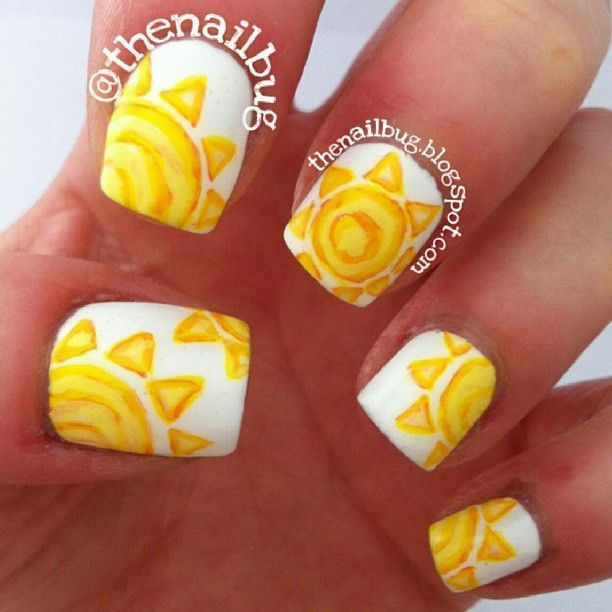 Distintive Summer Sun Nail Art - 80 Rare And Unique Summer Nail Art Which You Wouldn't Have Seen