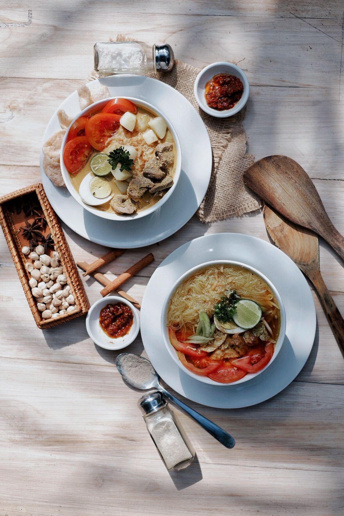 Indonesian Food Soto ayam & Soto Betawi