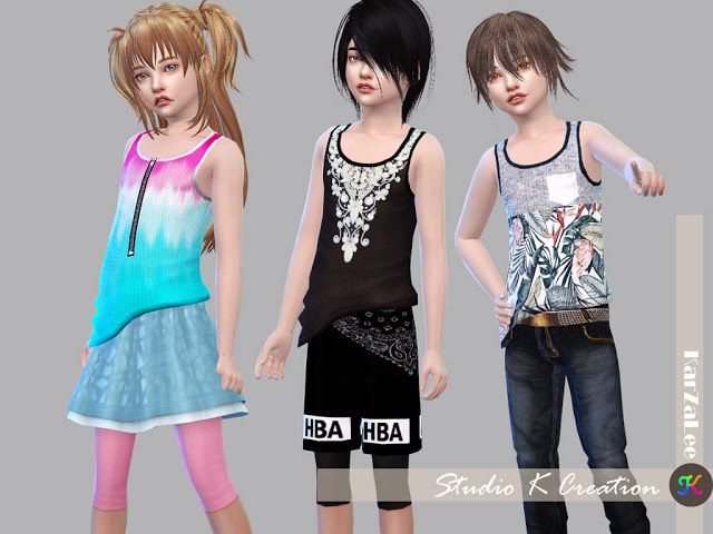 Sims 4 CC's - The Best: Giruto 23 Tank top - Child version by Karzalee