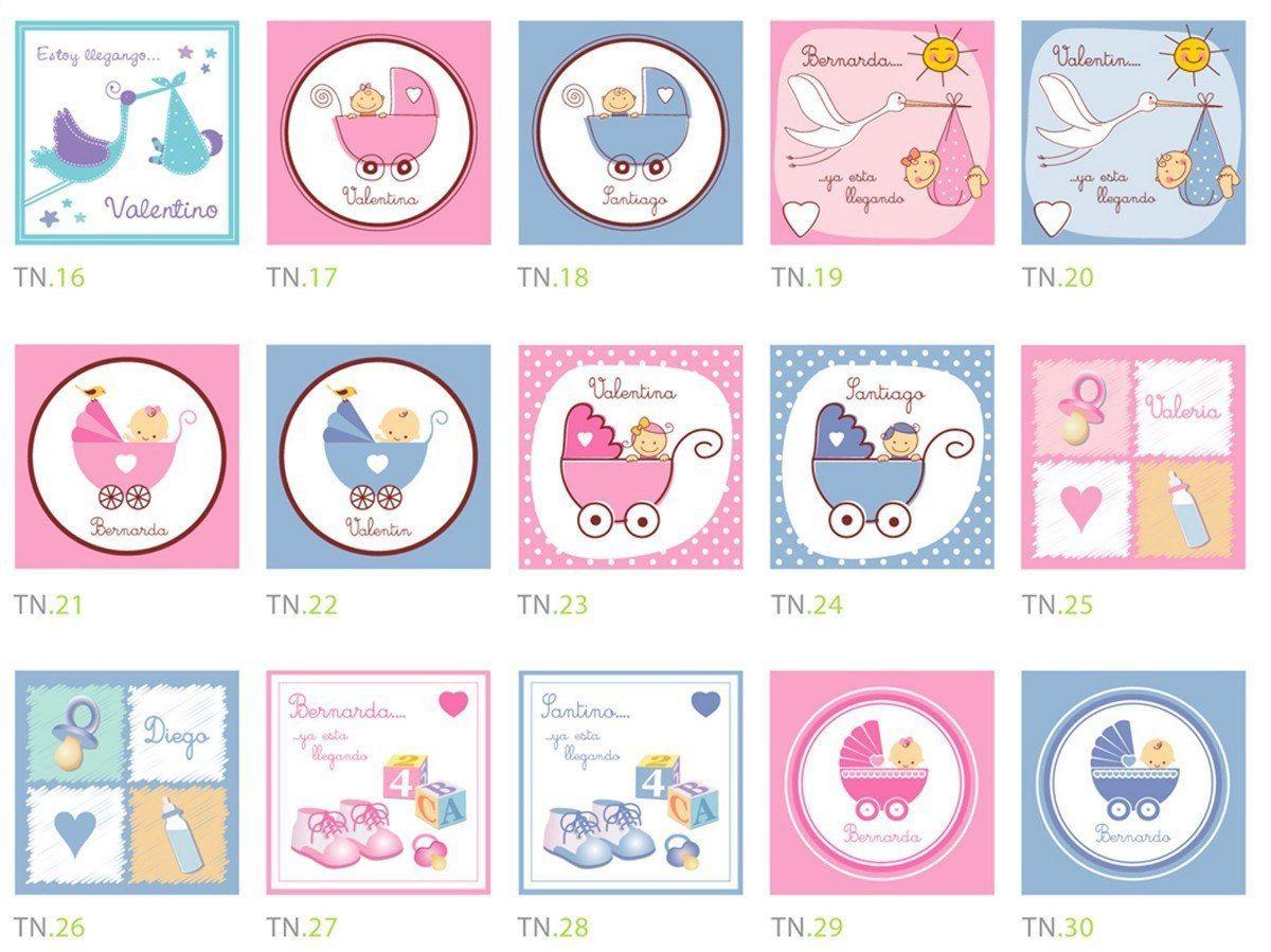Etiquetas Para Nacimiento, Baby Shower, Bautizo 12 X 60bs | baby ...