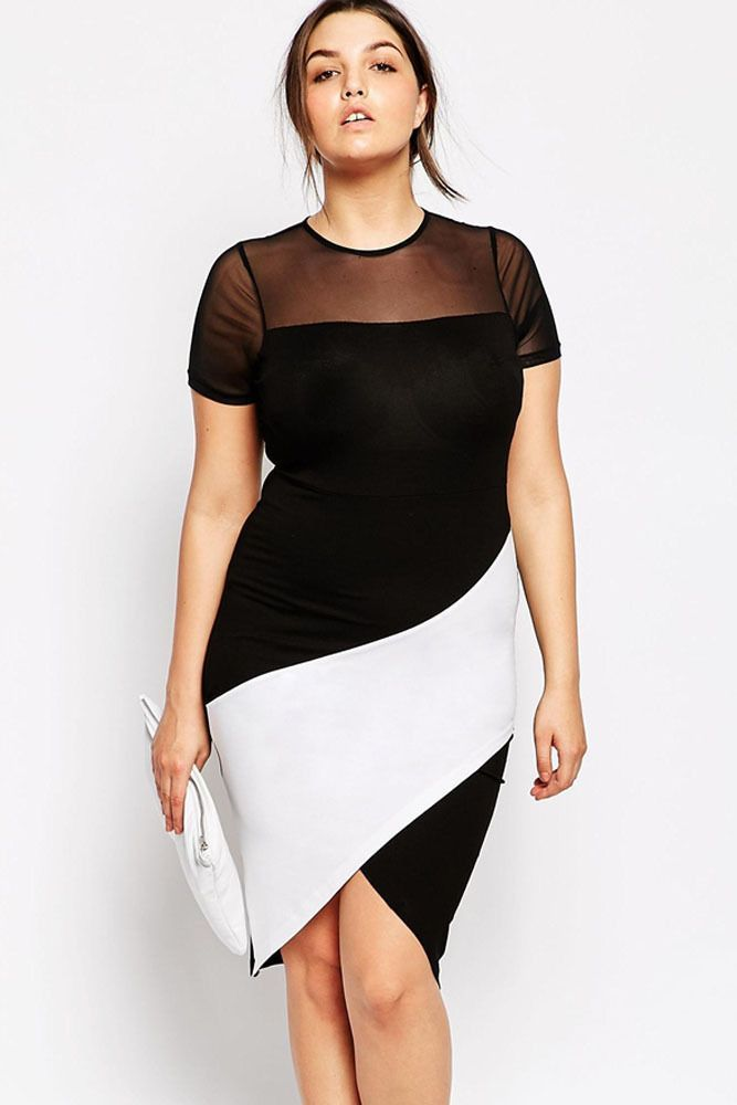 Mesh Sleeve Cocktail Dress