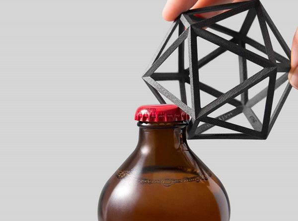 Compact And Innovative Bottle Opener Design Milk Metal Bottles 3d Printed Metal