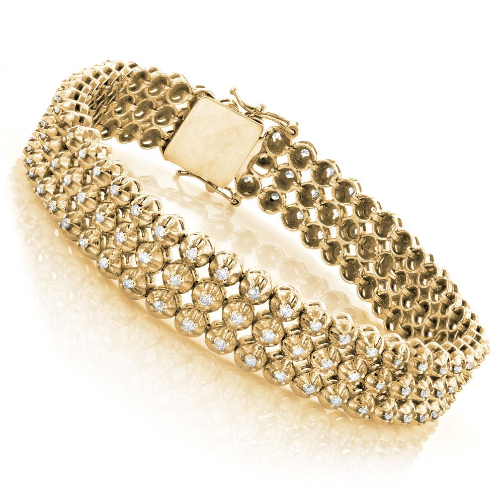 shop bracelets t gold w fpx diamond tennis bracelet in product ct