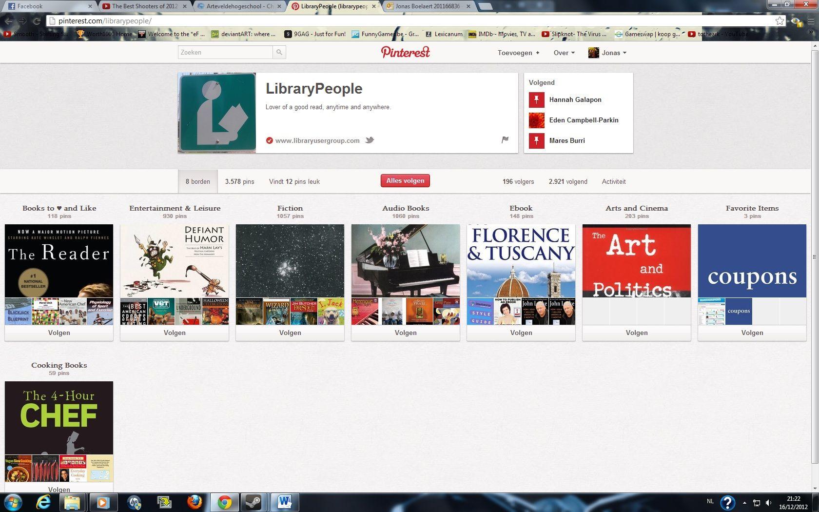 Library people is een boekenwinkel die alle nieuwe boeken in zijn pins zet. Zo kan een groot publiek nieuwe aankopen bekijken. Ook andere boeken die al een tijdje beschikbaar zijn pinnen ze, zodat mensen weten dat ze deze ook verkopen.
