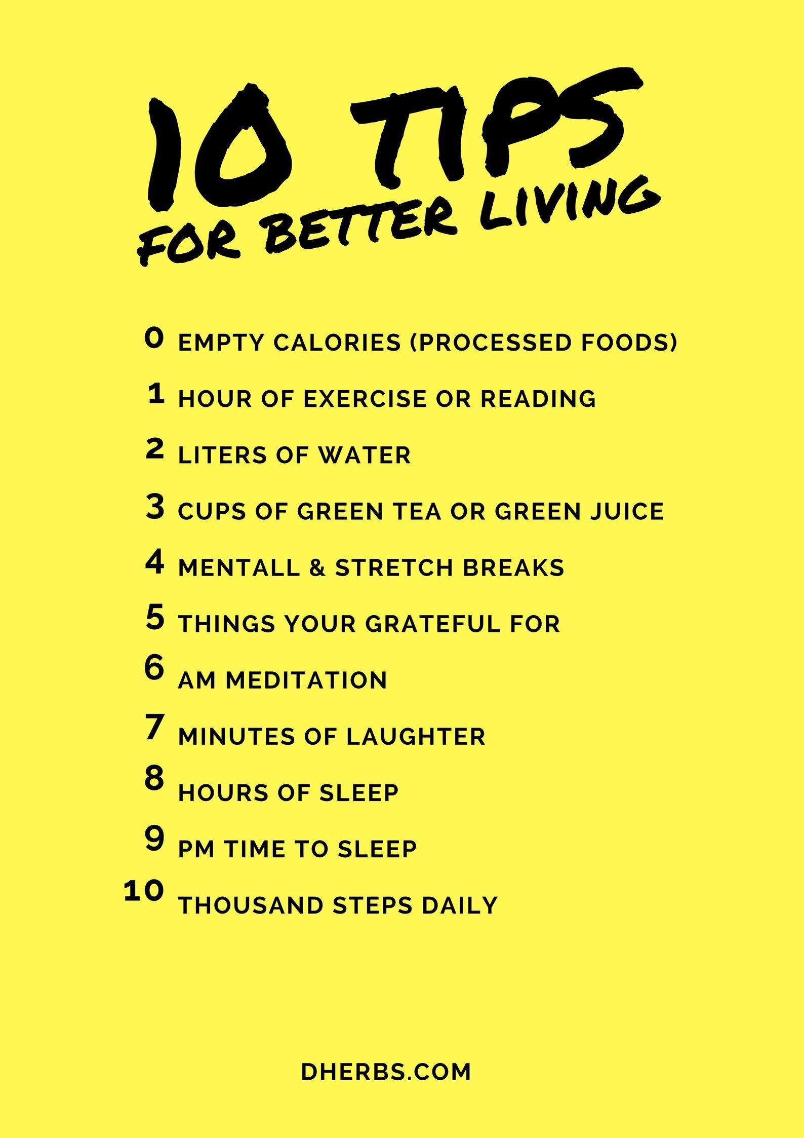 10 tips for better living