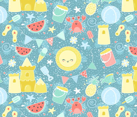Summer fabric by studiokex on Spoonflower - custom fabric