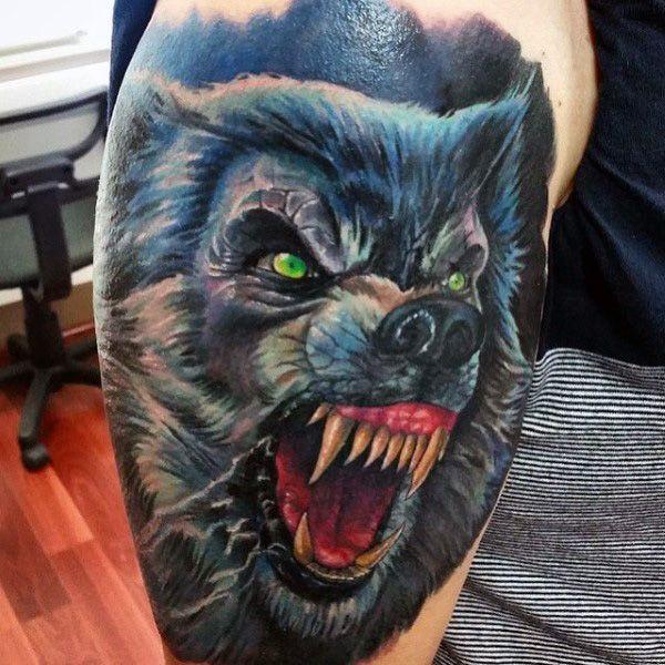 80 Werewolf Tattoo Designs For Men Full Moon Folklore Werewolf Tattoo Wolf Tattoos Wolf Tattoos Men