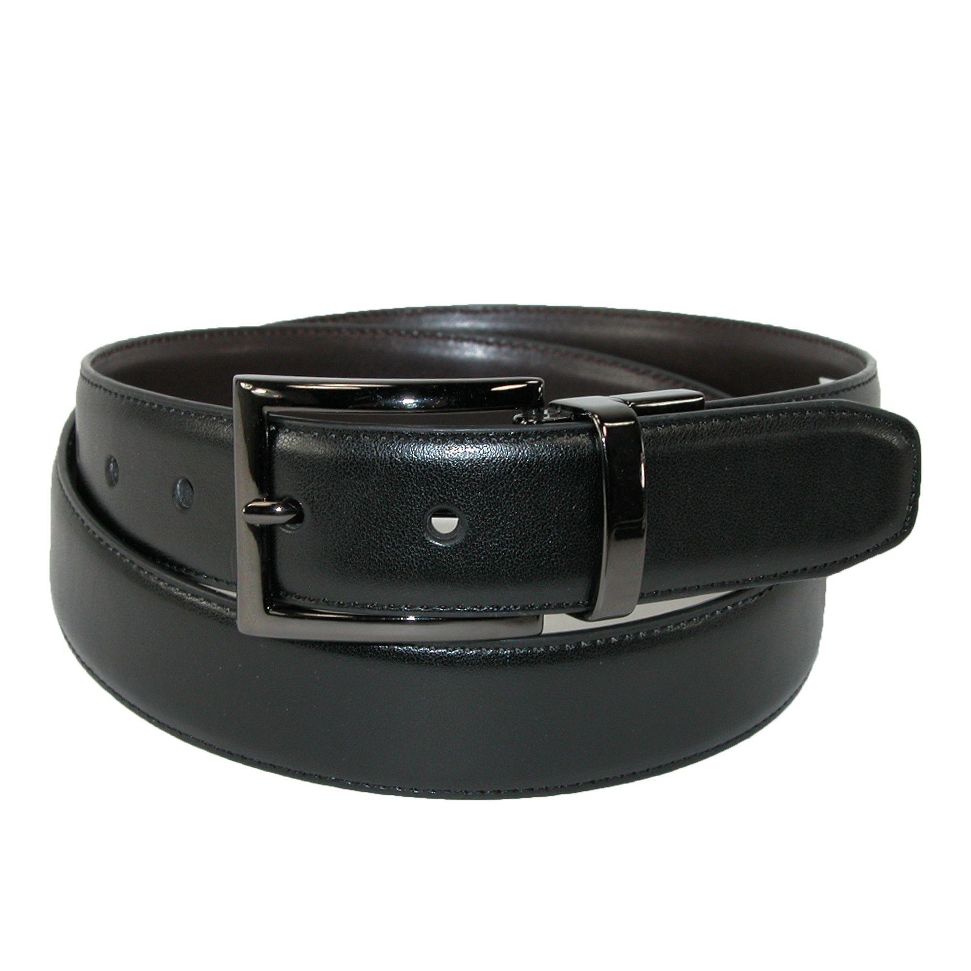 Dockers Men/'s Reversible Belt With Gunmetal Buckle