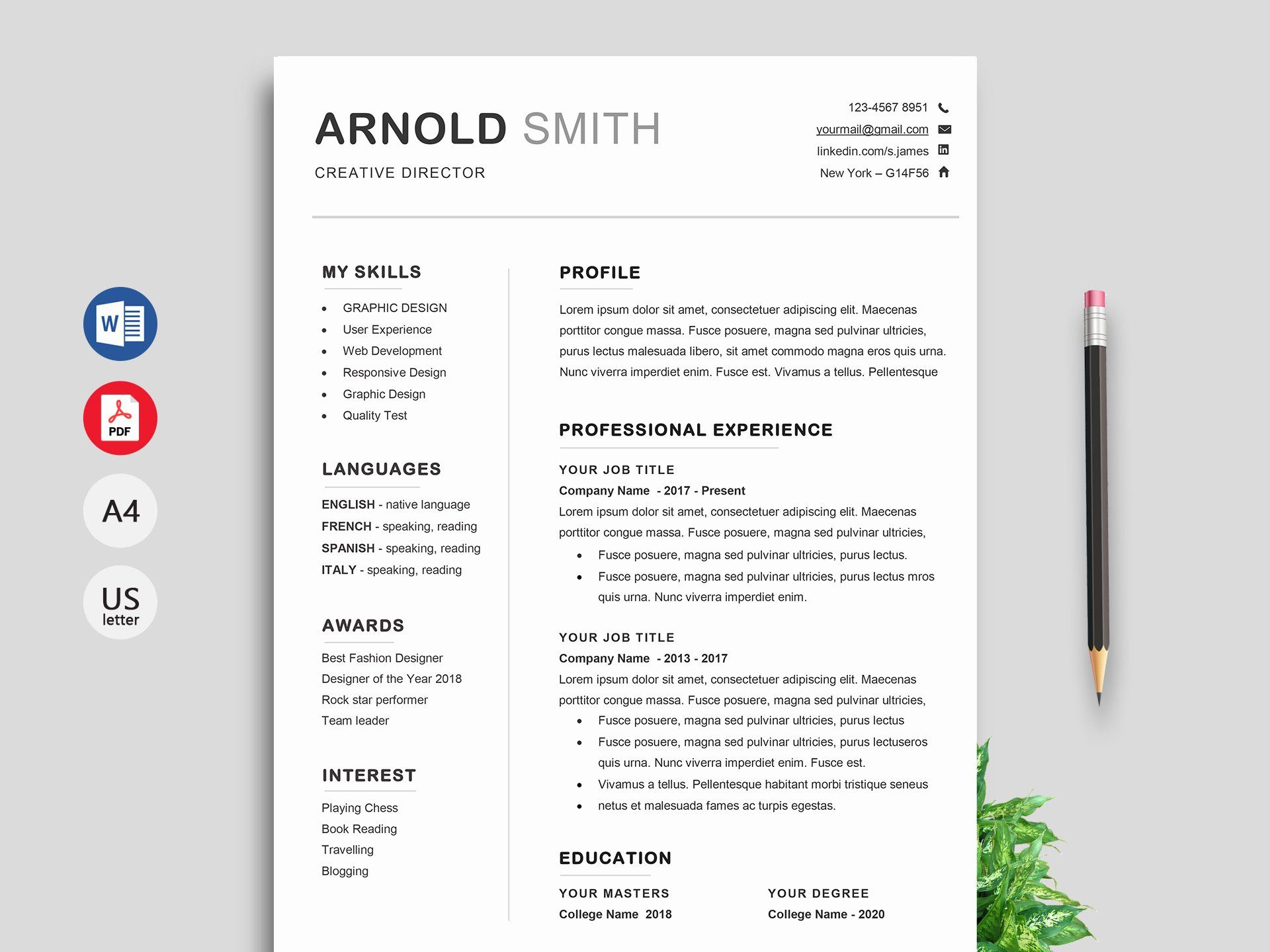 Resume Template Download Word Free Beautiful Free Resume Cv Templates In Word For Resume Template Word Downloadable Resume Template Free Resume Template Word