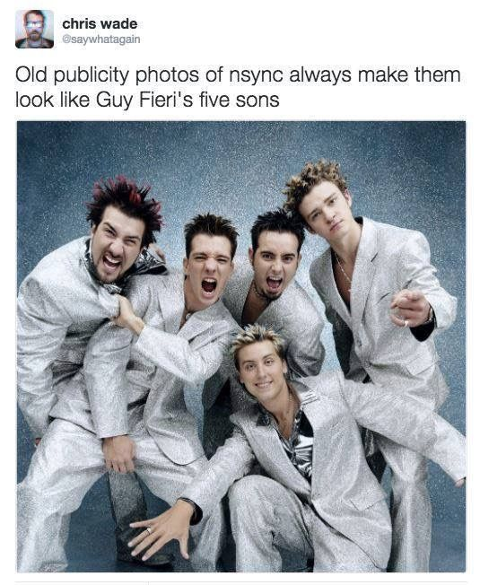 Guy Fieri S Sons Lol With Images Nsync Guy Fieri Funny Photos