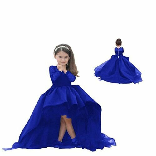 Black High Low Flower Girl Dresses Lace Long Sleeve First Commuion Dress Party -   19 dress Flower Girl blue ideas