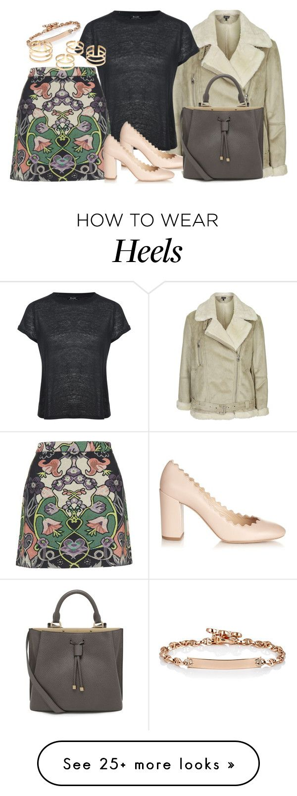 """""""Untitled #2274"""" by erinforde on Polyvore featuring Topshop, Hoorsenbuhs, Brixton, Chloé, Mulberry, women's clothing, women's fashion, women, female and woman"""