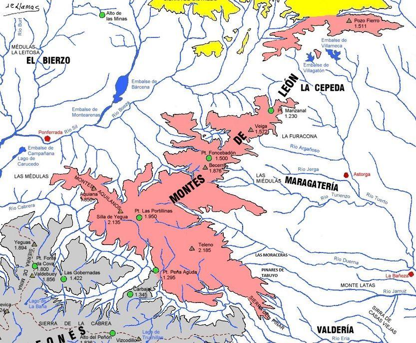 Montes De Leon Mapa.Los Montes De Leon En 2020 Patrimonio De La Humanidad Mapas Losas Macizas