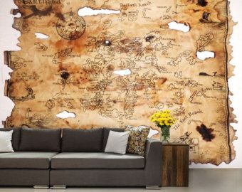 Delightful Self Adhesive Peel And Stick Wall Mural, Kids Map, Wall Sticker, Vinly  Wallpaper
