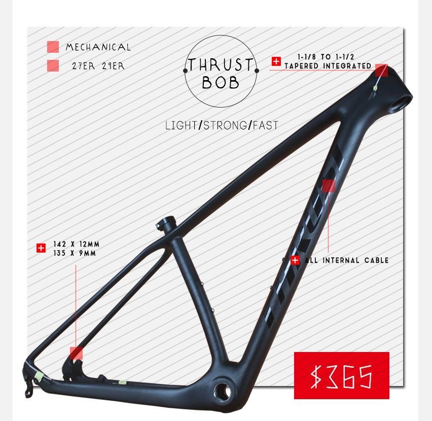 Check Discount Thrust Carbon Frames 151719 Inches 29er 27er Carbon