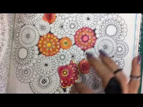 Jardim Secreto: colorindo flores com lápis aquarela.