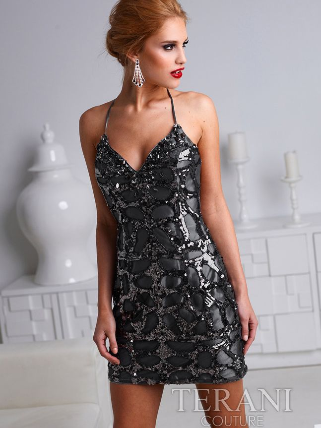 Sequin Cocktail Dress By Terani. Style #: H1220. SungBoutiqueLA ...