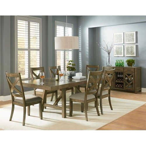 Kitchen Table Omaha: Standard Furniture Omaha Grey Trestle Dining Room Table