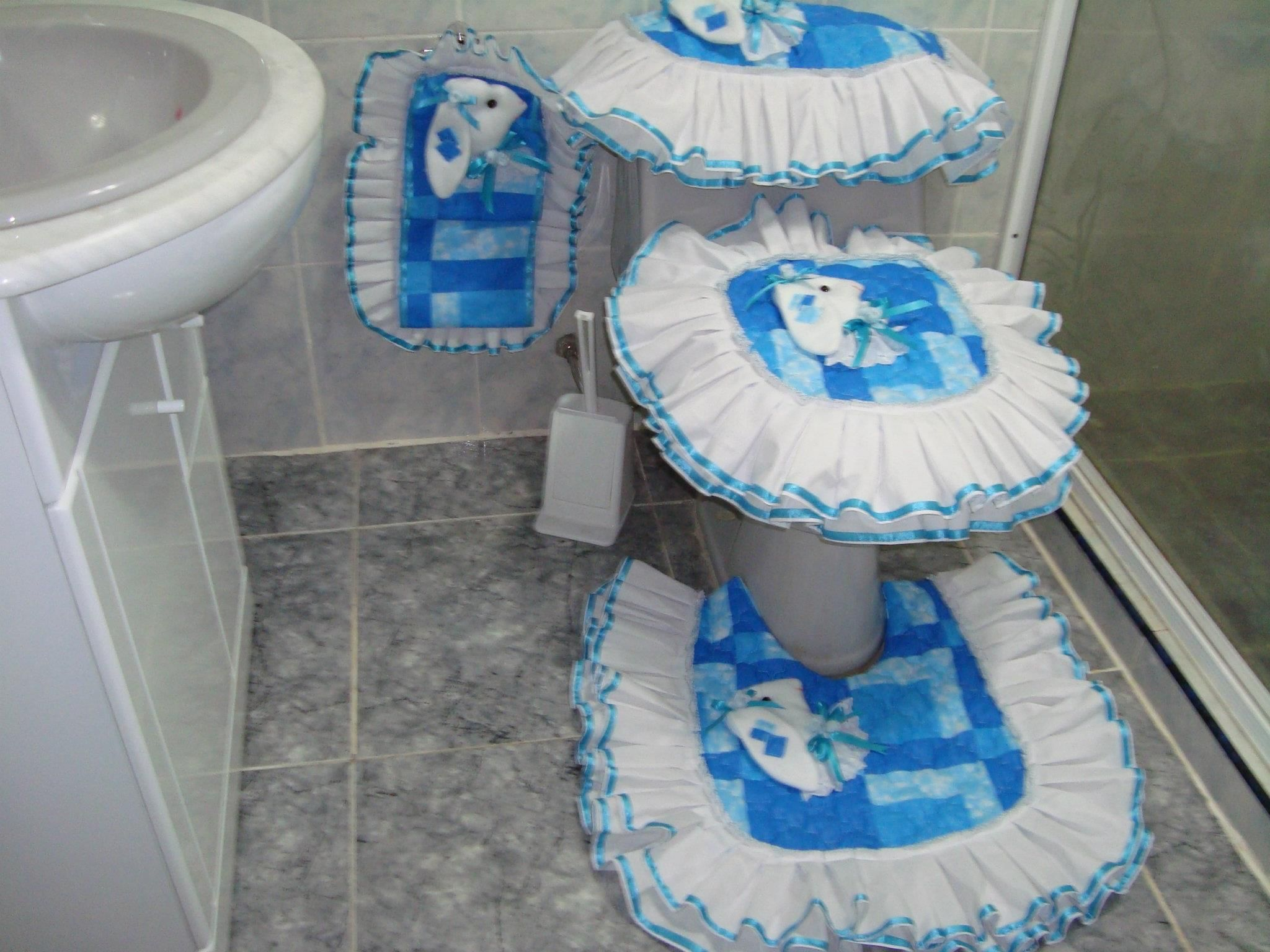 Vestido ba o lencer a hogar pinterest toilet for Set de bano tejidos