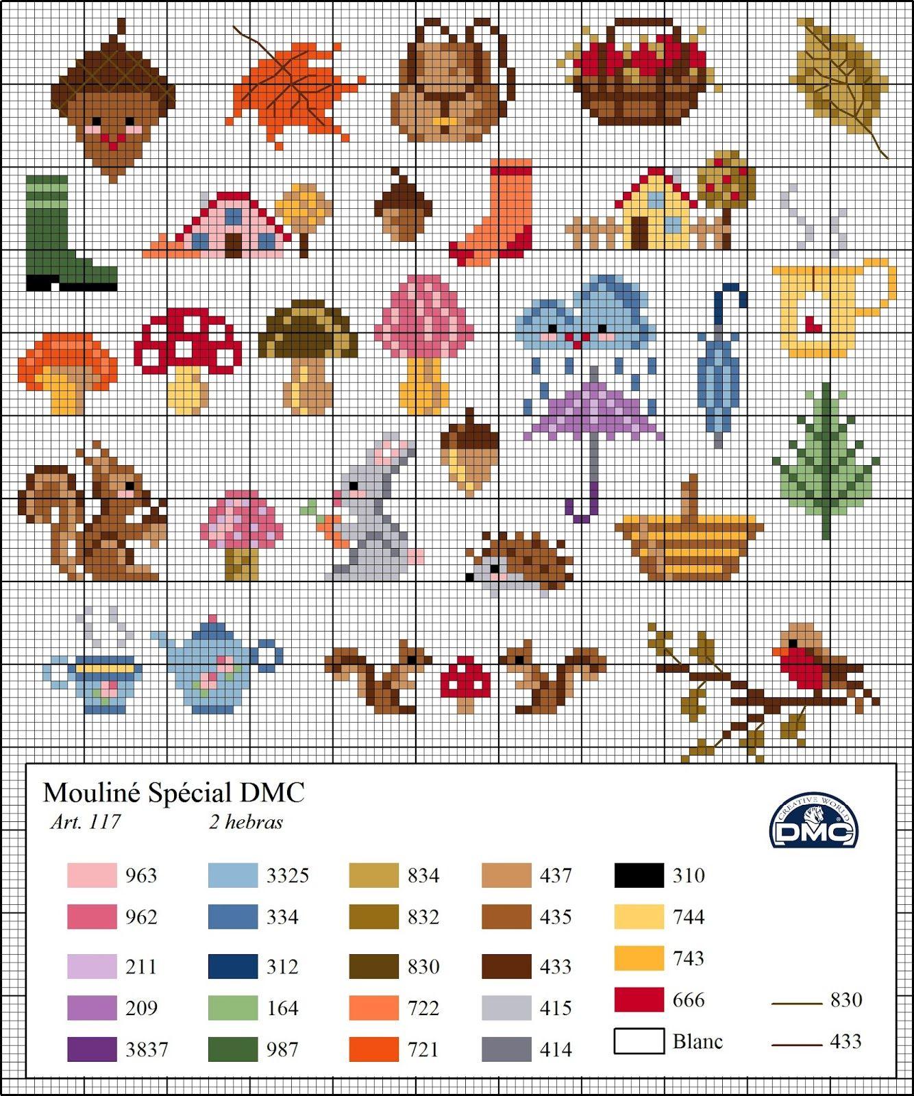 Free cross stitch pattern for outdoor sampler | craft | Punto de ...