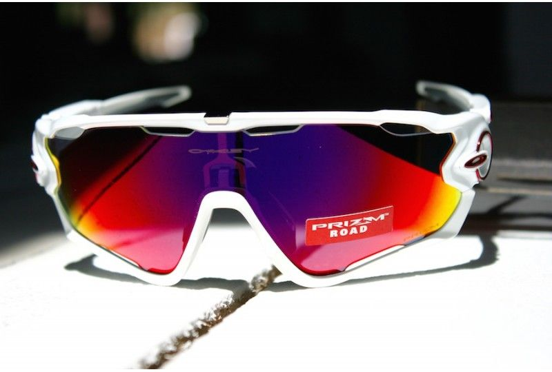 5389faf349 Jawbreaker custom polished white Prizm Road Oakley Jawbreaker