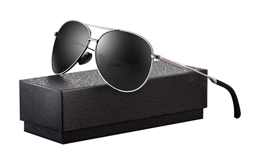 fb63905d8a39 Polarized Aviator Sunglasses for Men - Feirdio Metal Frame Sports UV 400  Protection Mens Unisex Sunglasses